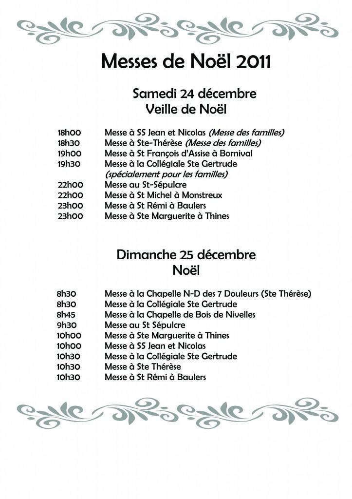 AFFICHE Messes de Noël 2011